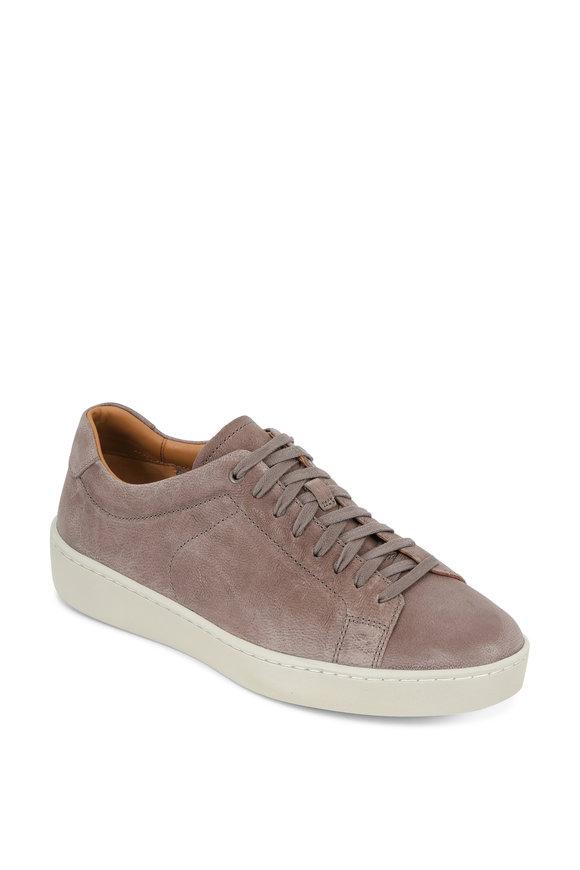 Vince Slater Granite Gray Pebbled Leather Sneaker