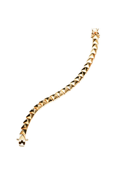 Eddie Borgo - Yellow Gold Plated Pyramid Bracelet