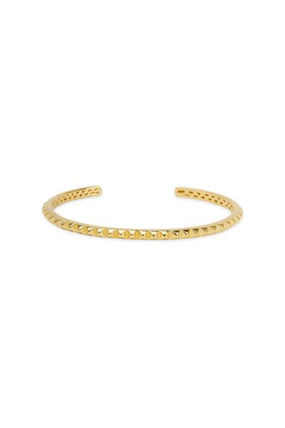 Eddie Borgo - Yellow Gold Mini Pyramid Cuff Bracelet
