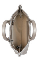 Akris - Ai Bronze Pebbled Leather Micro Crossbody