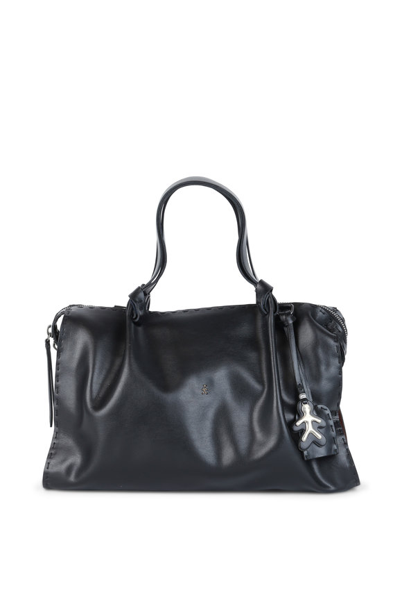 Henry Beguelin Thelma Blacks& Brown Smooth Leather Satchel