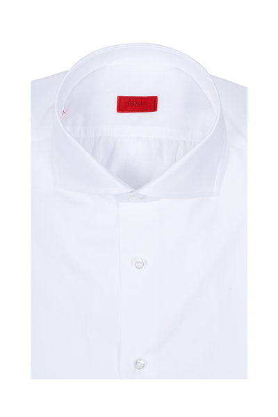 Isaia - Solid White Dress Shirt