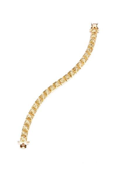Eddie Borgo - Yellow Gold Plate Pavé-Set Pyramid Bracelet
