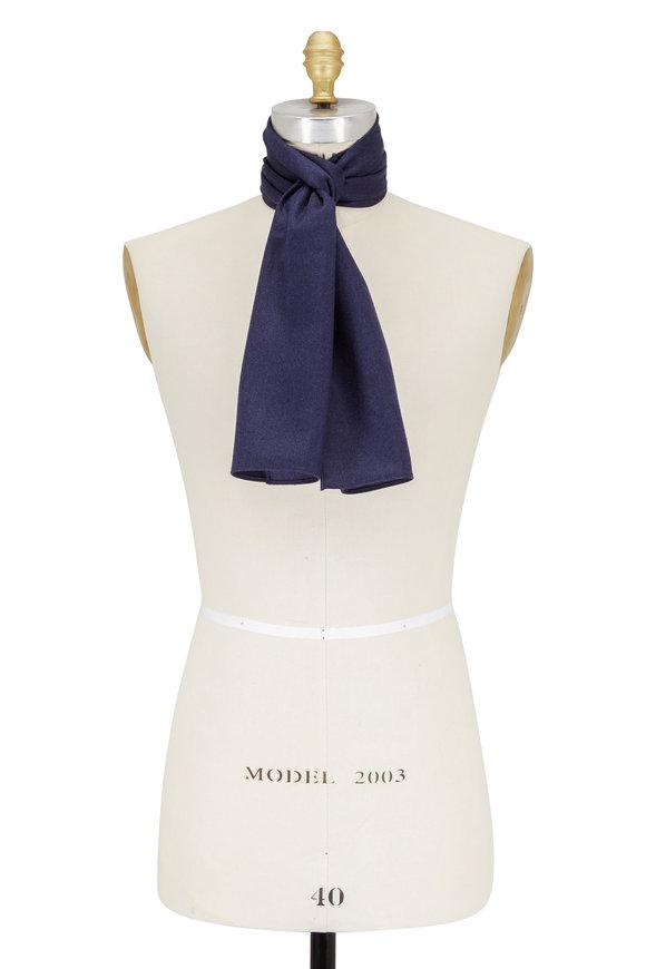 Paolo Albizzati Royal Blue Silk Skinny Necktie