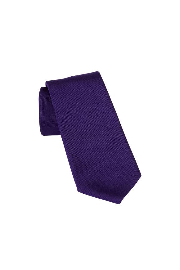 Paolo Albizzati Purple Silk Skinny Necktie