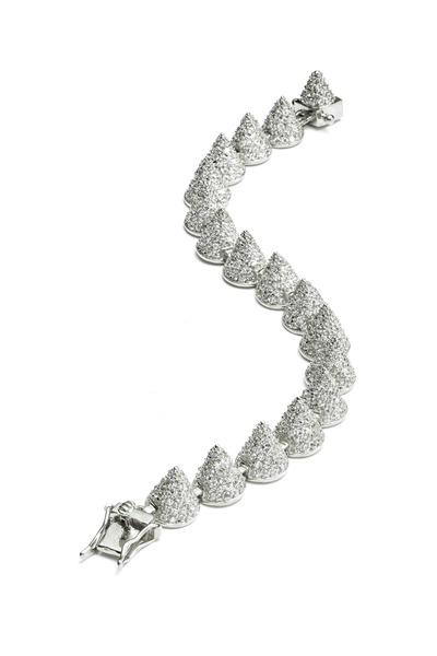 Eddie Borgo - Sterling Silver Pavé-Set Cone Bracelet
