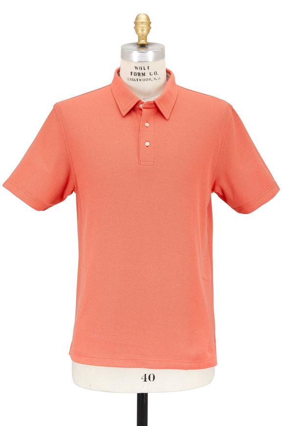 Vastrm Solid Orange Piqué Polo