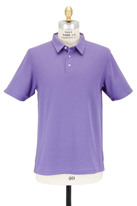 Vastrm Solid Purple Piqué Polo
