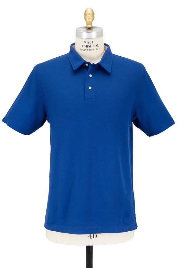 Vastrm Solid Blue Piqué Polo
