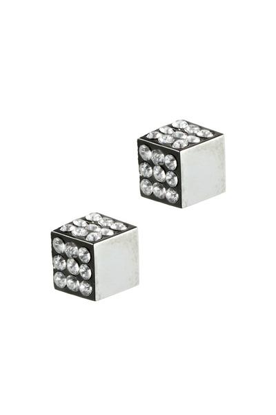 Eddie Borgo - Gunmetal Pavé-Set Cube Stud Earrings