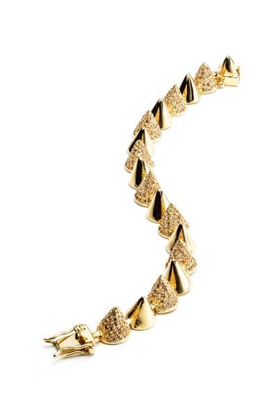 Eddie Borgo - Yellow Gold Plated Pavé-Set Cone Bracelet