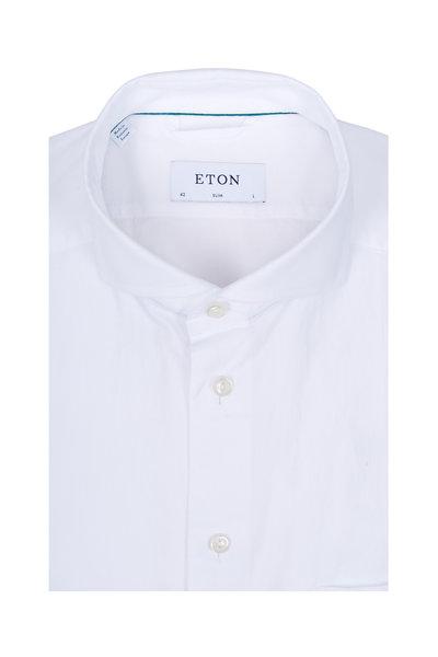 Eton - White Extreme Cut-Away Collar Slim Fit Sport Shirt