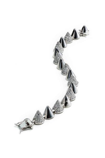 Eddie Borgo - Sterling Silver Alternating Pavé-Set Cone Bracelet
