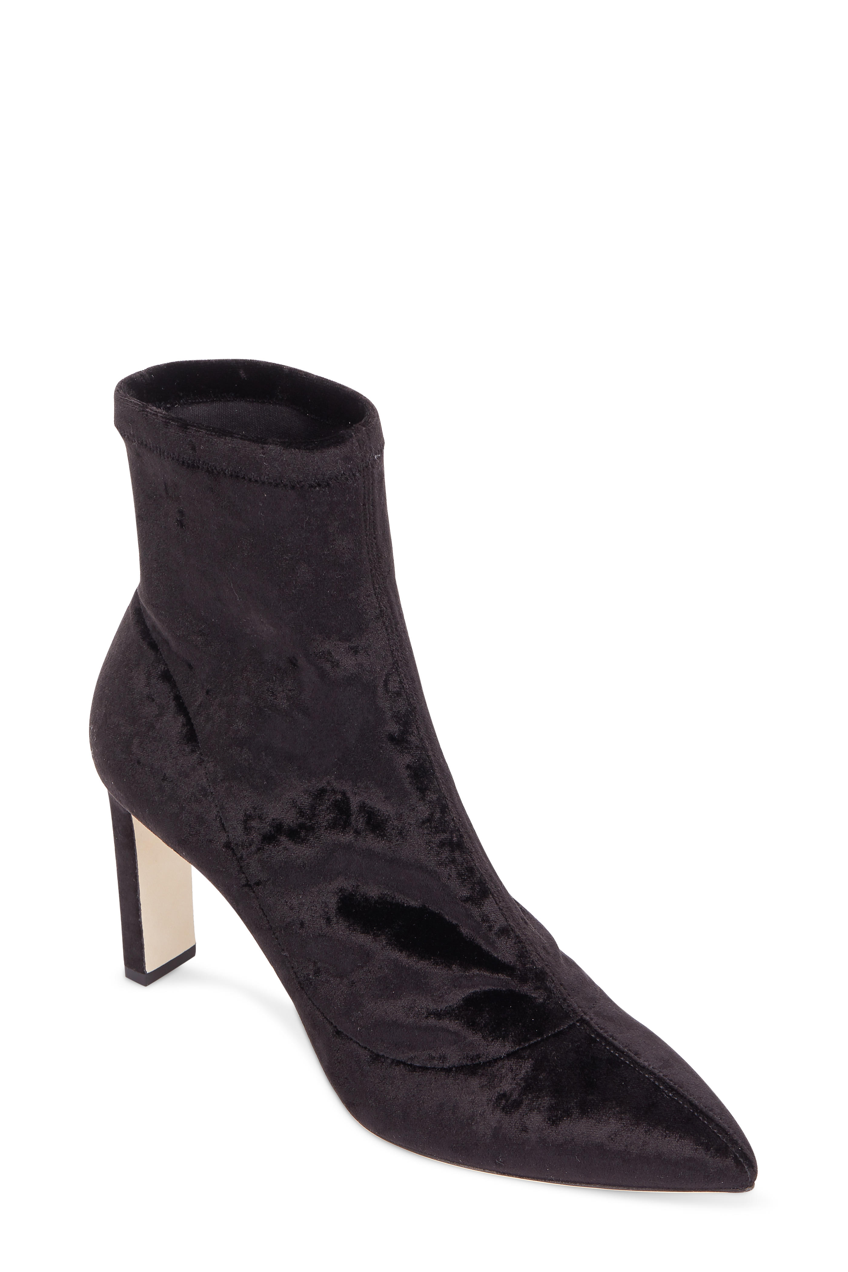 dd940b4a4a012 Jimmy Choo - Louella Black Stretch Velvet Ankle Boot, 85mm ...