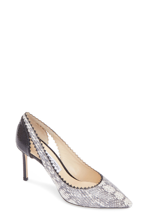 Jimmy Choo Diva Natural Mix Snakeskin Pump, 85mm