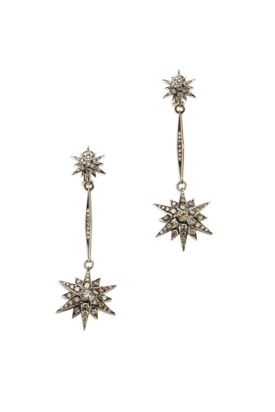 H. Stern - Noble Gold Diamond Stars Dangle Earrings