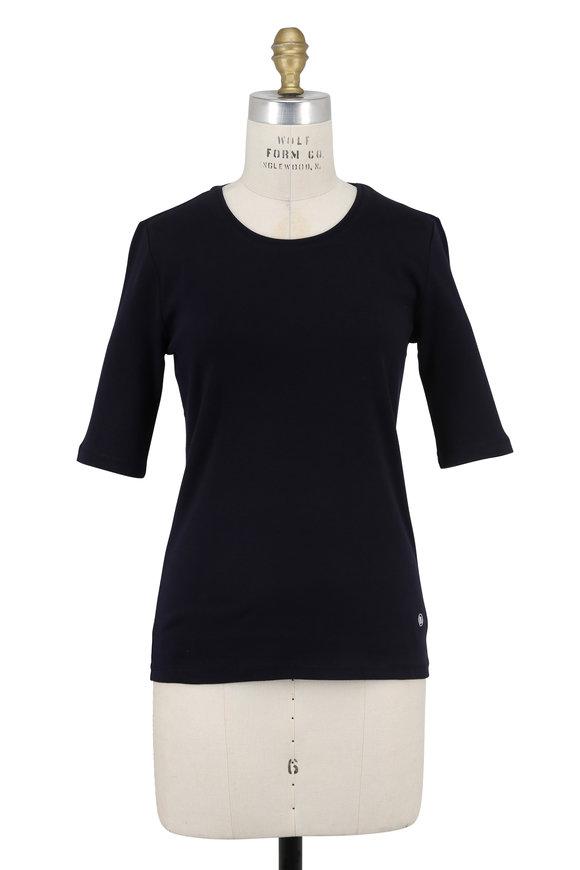 Bogner Velvet Navy Elbow Sleeve T-Shirt