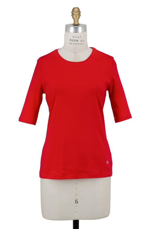 Bogner Velvet Red Elbow Sleeve T-Shirt