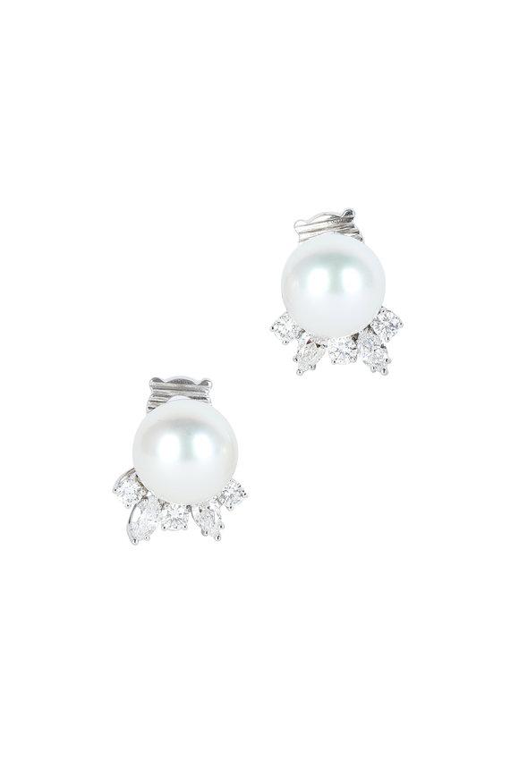 Assael South Sea Pearl & Diamond Earrings
