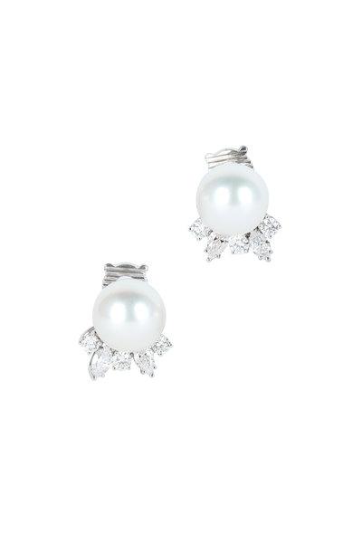 Assael - South Sea Pearl & Diamond Earrings