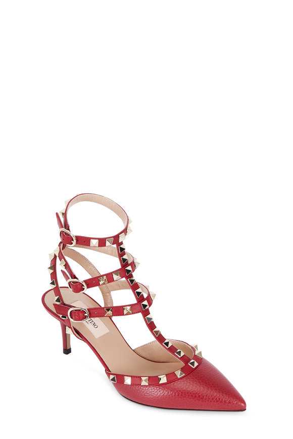 Valentino Rockstud Rubino Leather Pump, 65mm