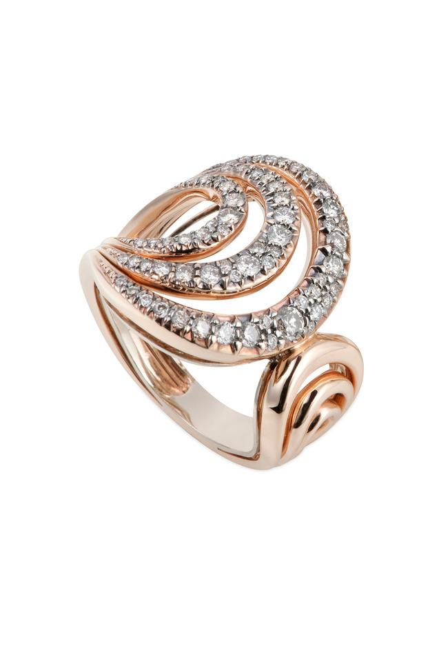 Iris Noble Gold Cognac Diamond Ring