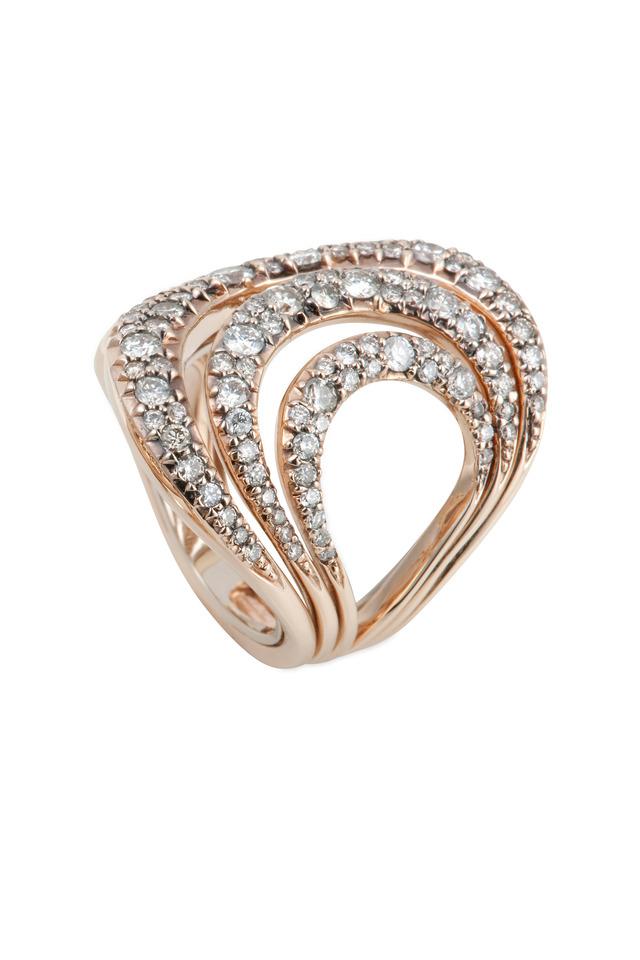 Iris Rose Gold Diamond Ring