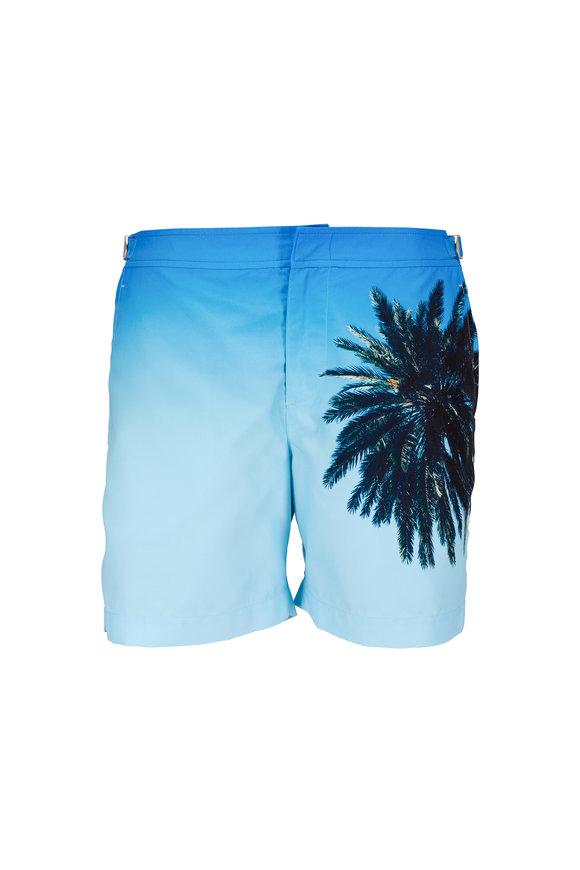 Orlebar Brown Bulldog Blue Photo Palm Reacher Swim Trunks