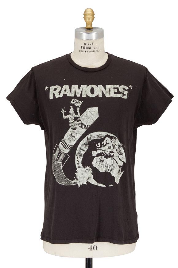 Madeworn Ramones Black Distressed Crewneck T-Shirt