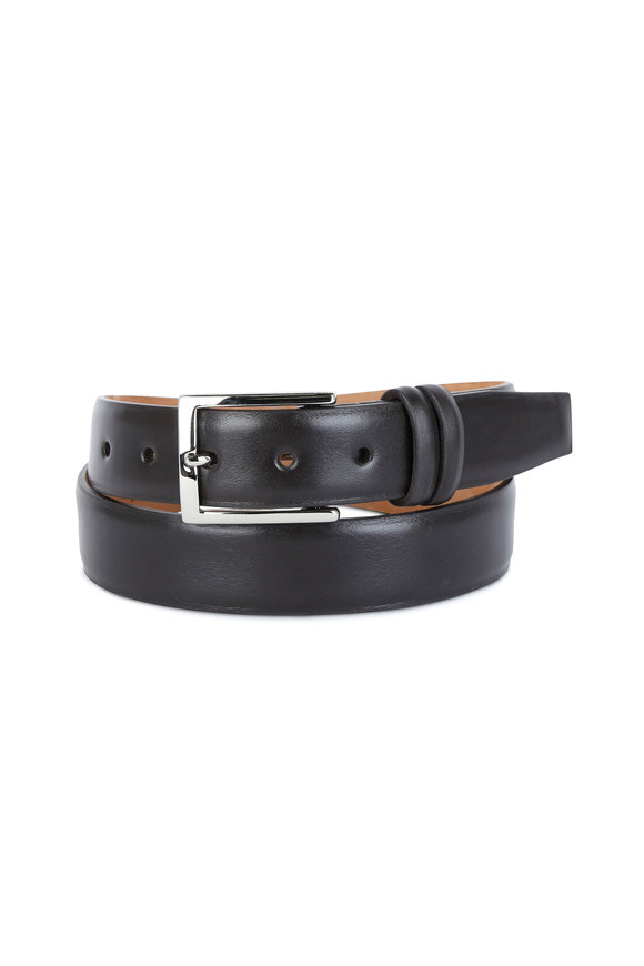 W Kleinberg Chocolate Brown Leather Belt