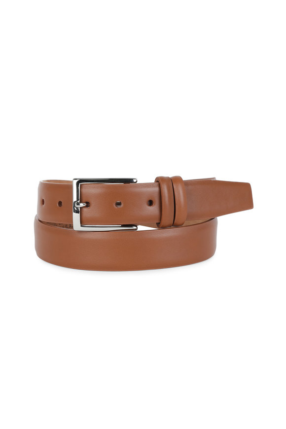 W Kleinberg Tan Leather Belt