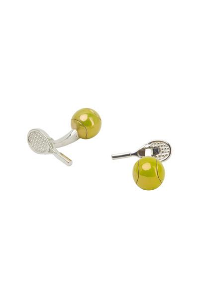 Jan Leslie - Tennis Ball & Racket Cuff Links