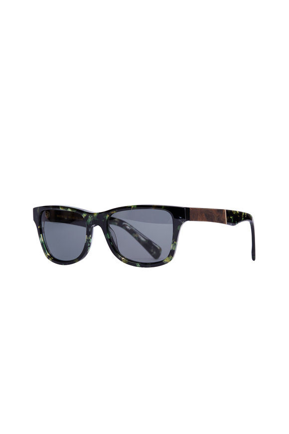 Shwood Canby Dark Forest & Elm Burl Polarized Sunglasses