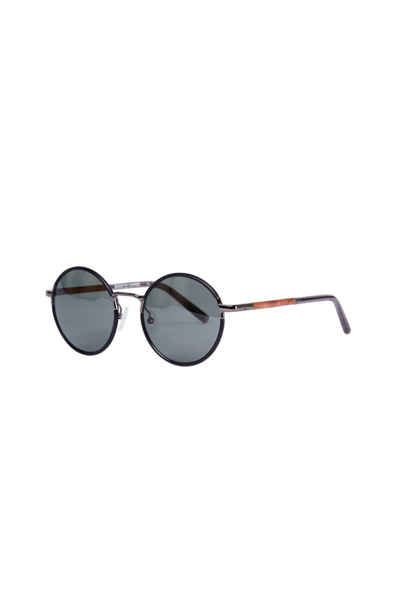 Shwood Hawthorne Black Mahogany Polarized Sunglasses