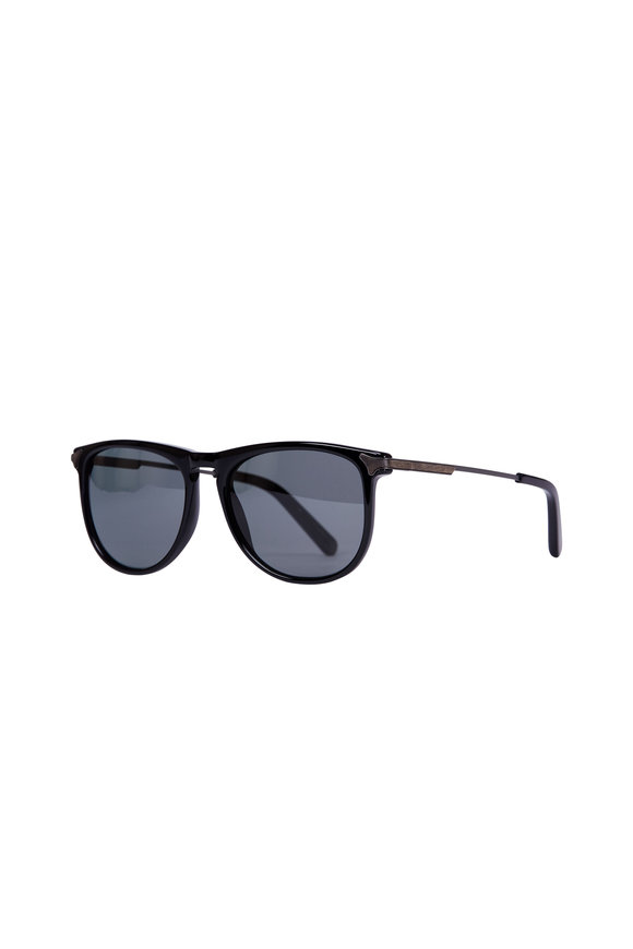 Shwood Keller Black & Walnut Polarized Sunglasses