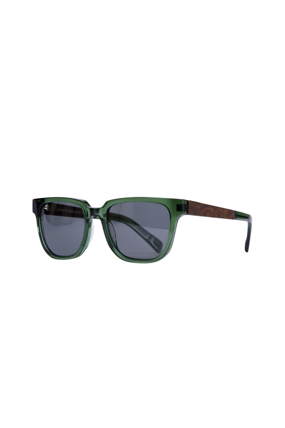 Shwood Prescott Emerald & Elm Burl Polarized Sunglasses