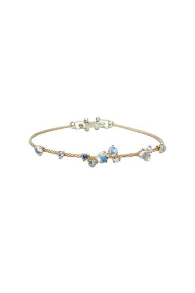 Paul Morelli - Yellow Gold Moonstone Bubble Bracelet