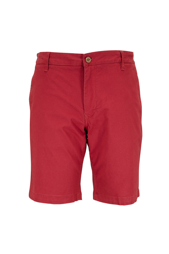 Tailor Vintage Earth Red Stretch Twill Shorts