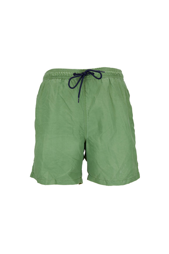 Tailor Vintage Solid Green Swim Trunks