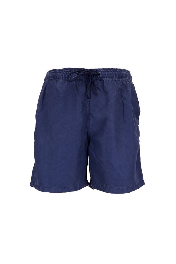 Tailor Vintage Solid Navy Swim Trunks