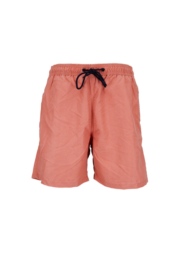 Tailor Vintage Solid Red Swim Trunks