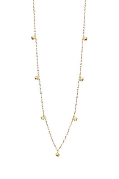 Paul Morelli - Yellow Gold Mini Jingle Bell Chain Necklace