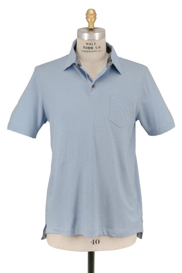 Tailor Vintage Light Blue Pocket Polo