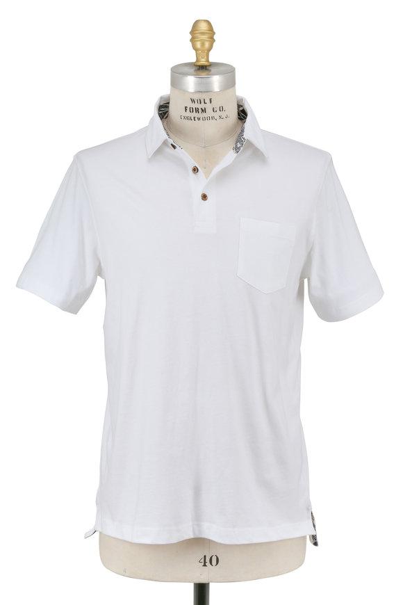 Tailor Vintage White Pocket Polo