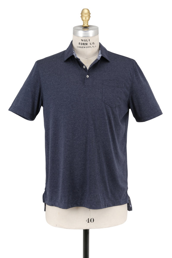 Tailor Vintage Navy Blue Performance Polo