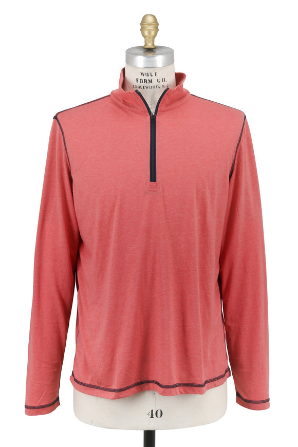 Tailor Vintage Red Quarter-Zip Performance Pullover