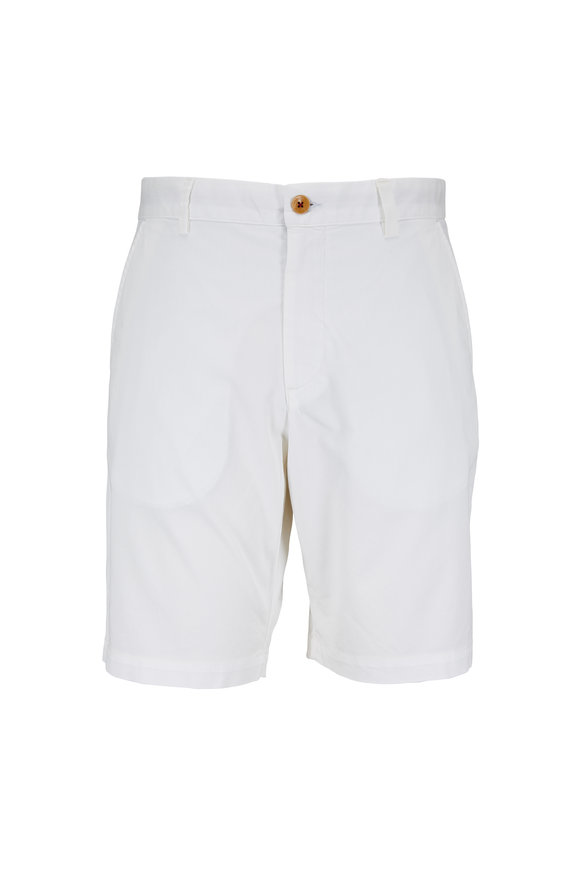 Robert Graham White Classic Fit Shorts