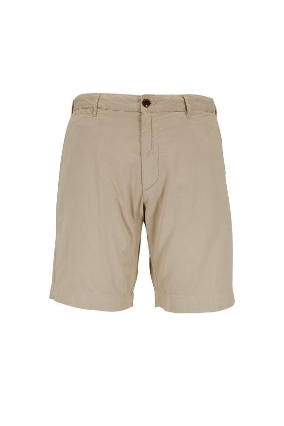 Faherty Brand Harbor Khaki Cotton & Lyocell Shorts