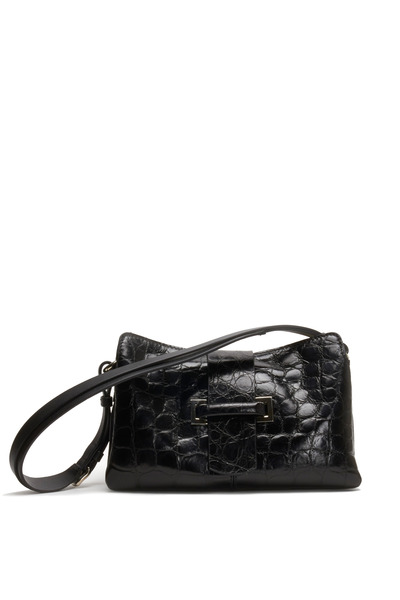 Mauro Governa - Black Crocodile Small Shoulder Bag