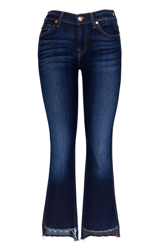 7 For All Mankind Cropped Step Hem Kick Flare Jean
